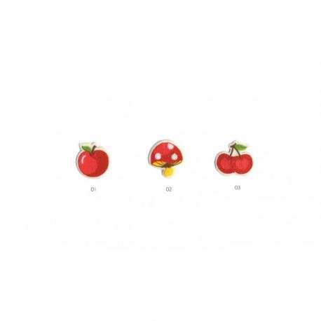 Ecusson Thermocollant Fruits Et Champignons