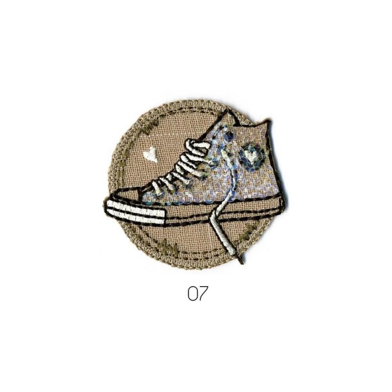 Ecusson Thermocollant Baskets Branchées 5x5 cm