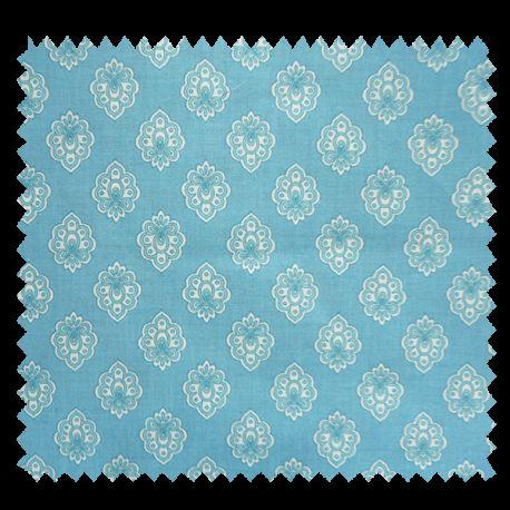 Tissu Cretonne Regalido Mouche All Over Turquoise