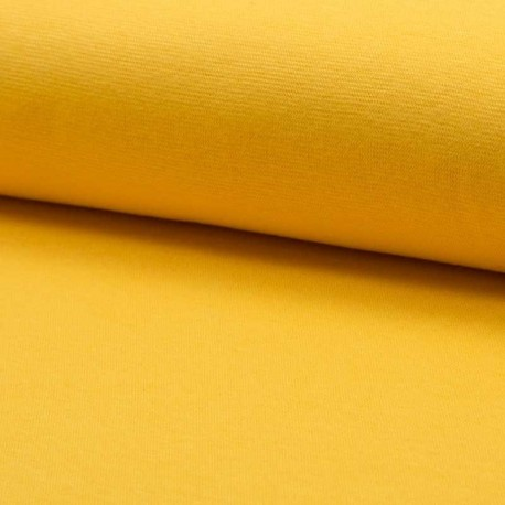 Tissu Bord Cote Uni Jaune