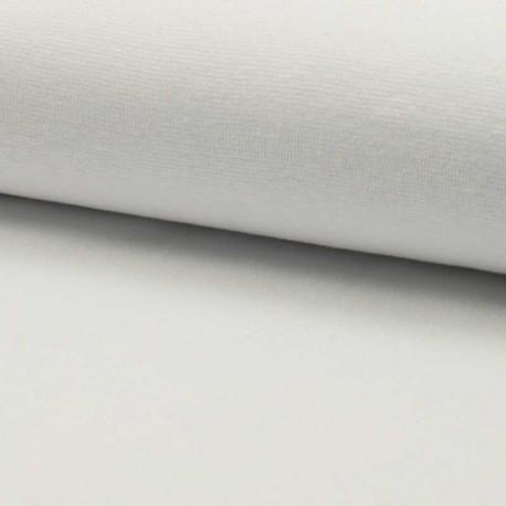 Tissu Bord Cote Uni Blanc