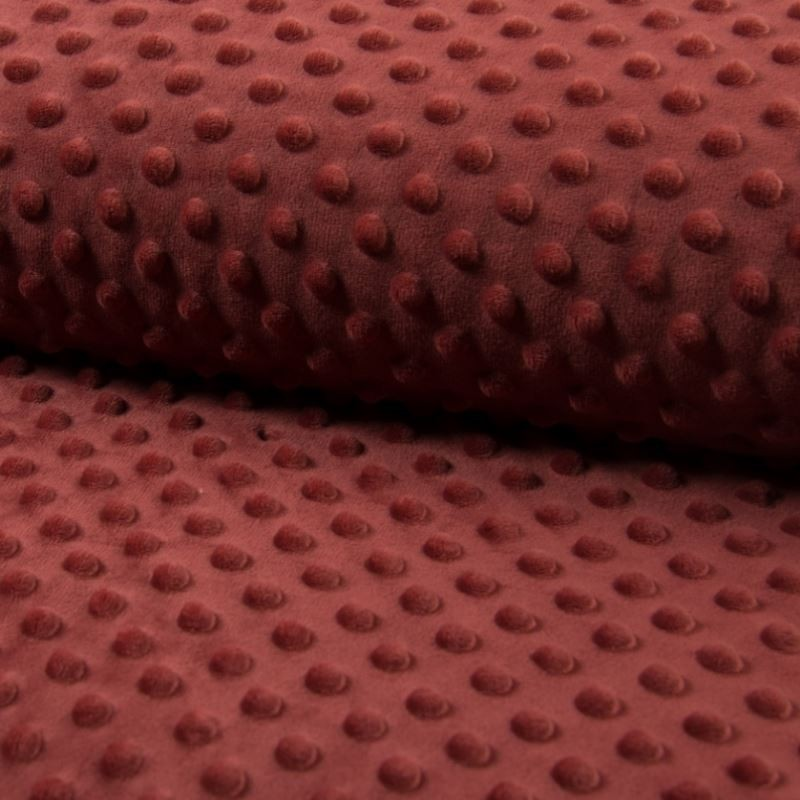 Tissu Bubble Minky Uni Terracotta