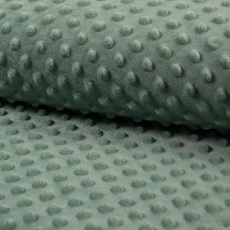 Tissu Bubble Minky Uni Lichen