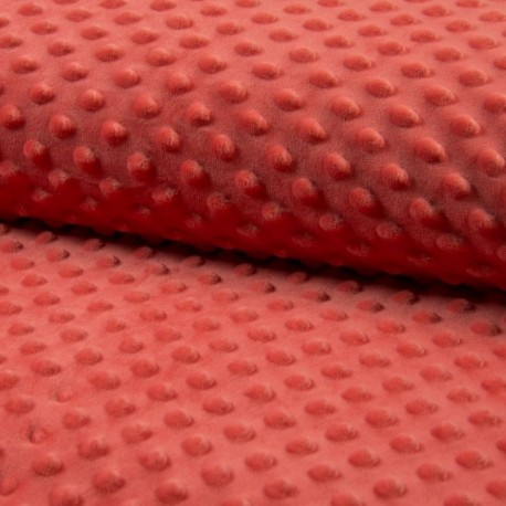 Tissu Bubble Minky Uni Abricot