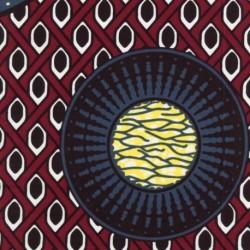 Tissu Super Wax Cercle Multico