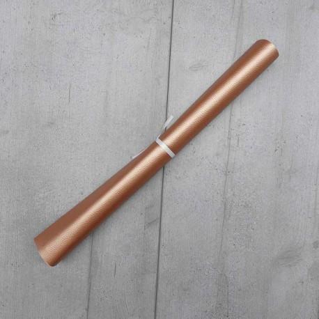 Coupon Simili Cuir Karia Or Rose 50x140 cm