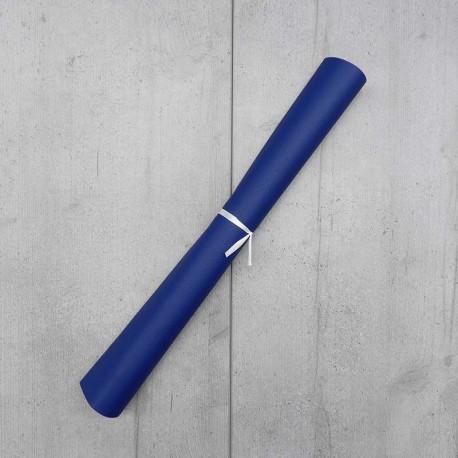 Coupon Simili Cuir Karia Bleu Royal 50x140 cm