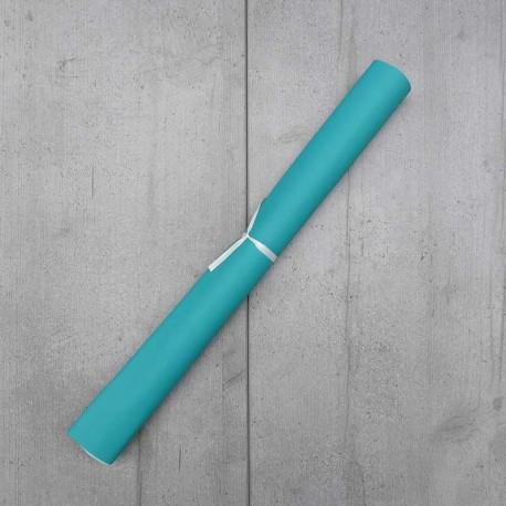 Coupon Simili Cuir Karia Turquoise 50x140 cm