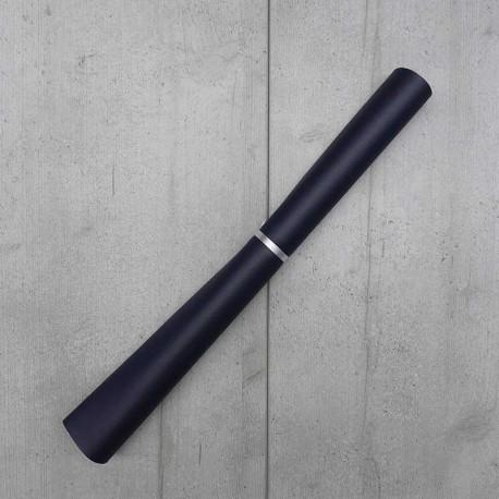 Coupon Simili cuir Karia Marine 50x140 cm
