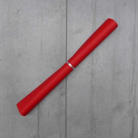 Coupon Simili Cuir Karia Rouge 50x140 cm