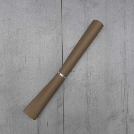 Coupon Simili Cuir Karia Taupe 50x140 cm