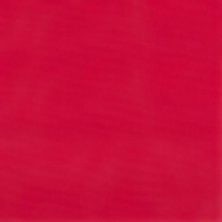 Tissu Chintz Uni Rouge Teflon