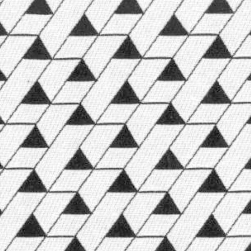 Tissu Jacquard Mini Triangles Noir