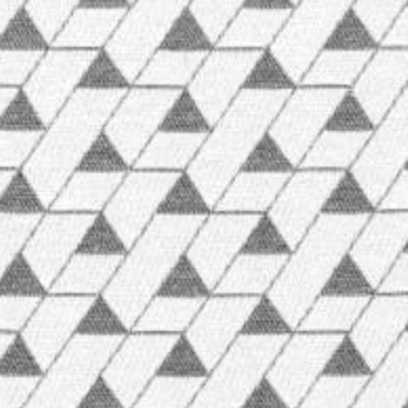 Tissu Jacquard Mini Triangles Gris