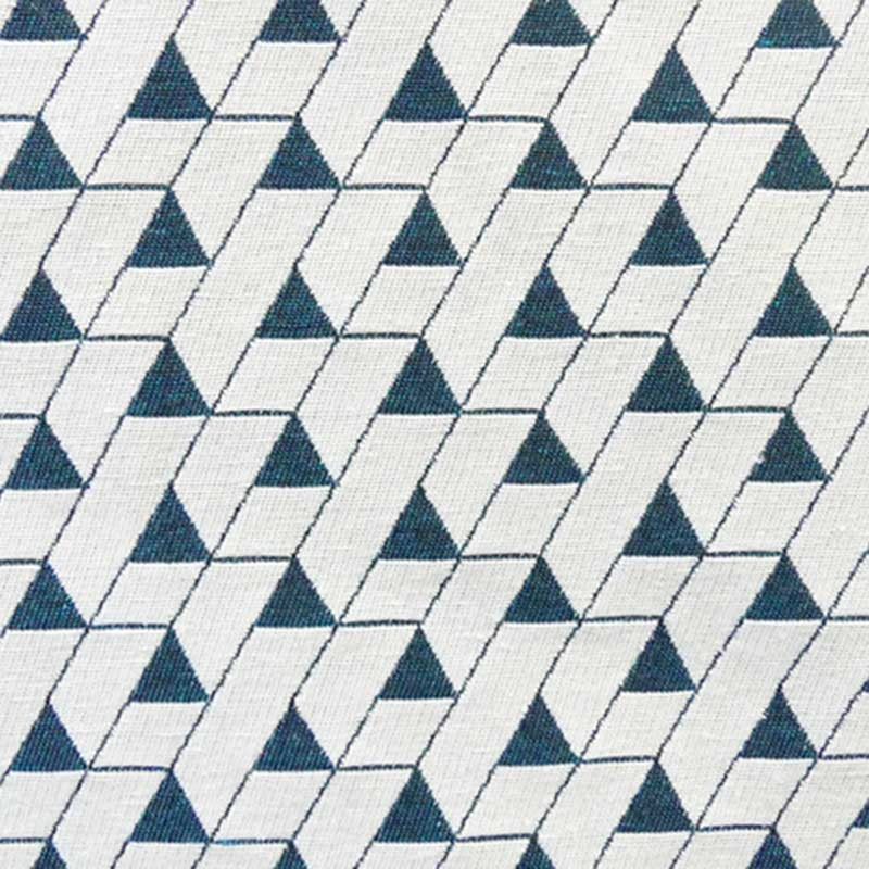 Tissu Jacquard Mini Triangles Canard