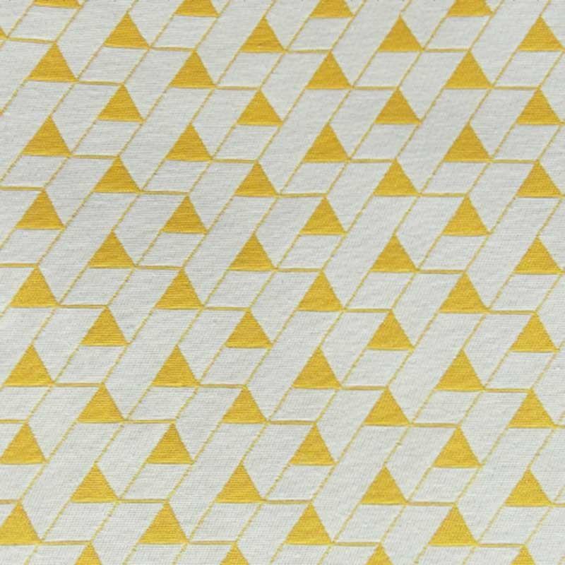Tissu Jacquard Mini Triangles Jaune