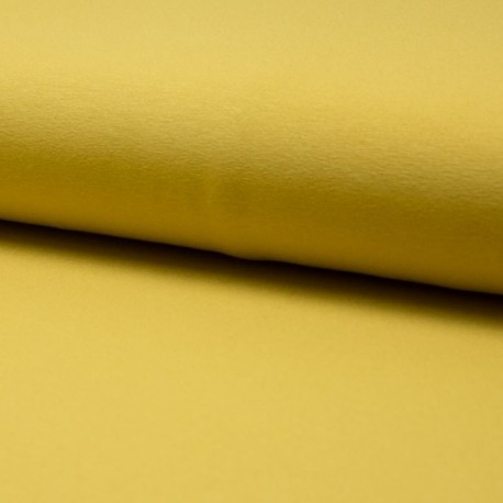 Tissu Jersey Luxe Uni Curry