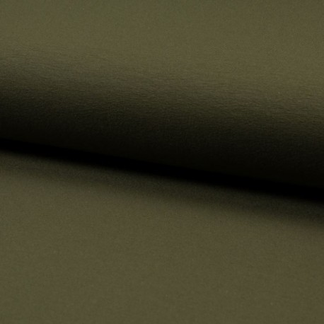 Tissu Jersey Luxe Uni Kaki