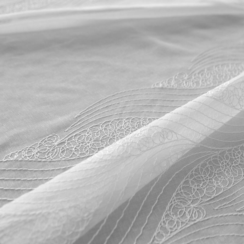 Tissu Voilage Etamine Base Brodée Malo Blanc