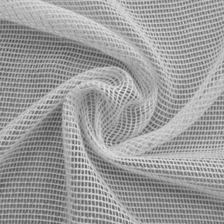 Tissu Voilage Filet Lurex Stelly Blanc