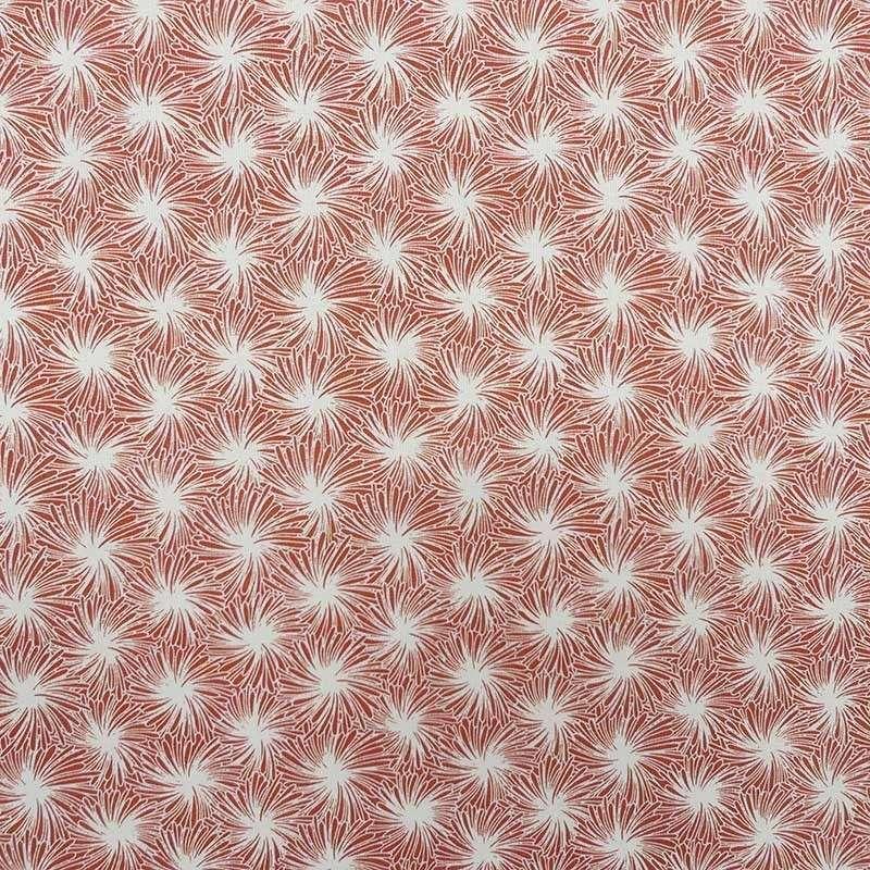 Tissu Futon Cretonne Terracotta