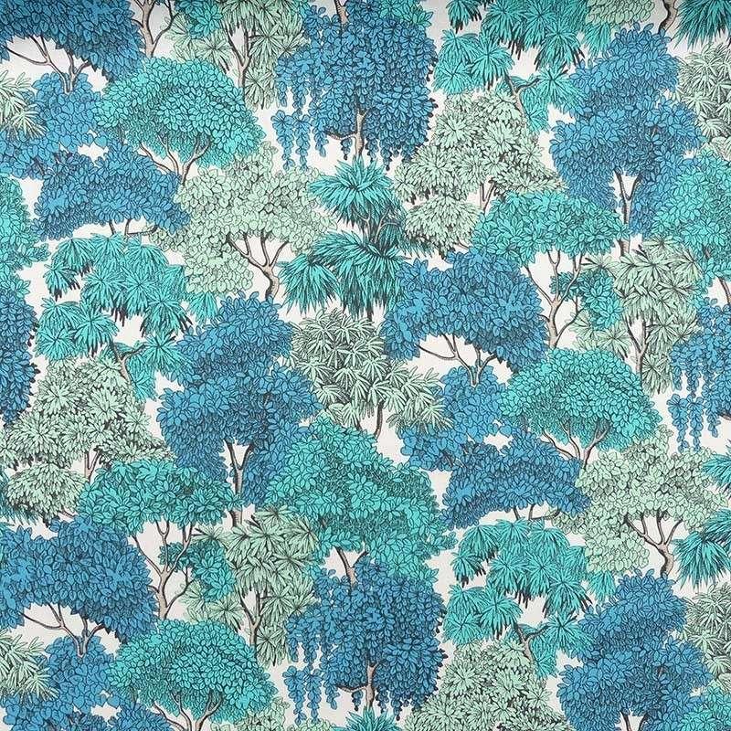 Tissu Fontainebleau Cretonne Bleu