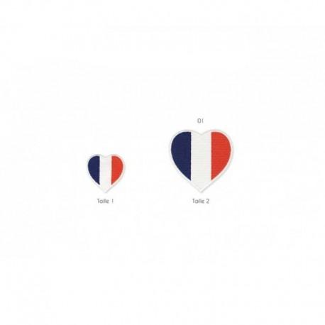 Ecusson Thermocollant Coeur France