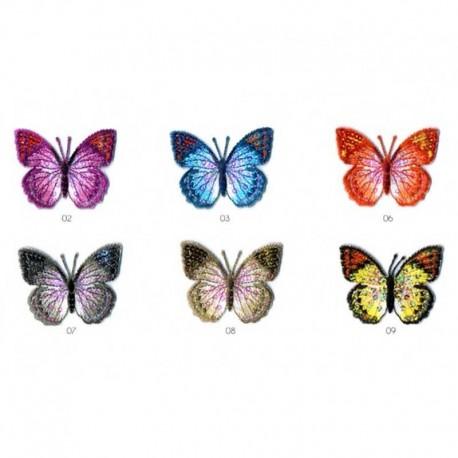 Ecusson Thermocollant Motif Papillon Paillette