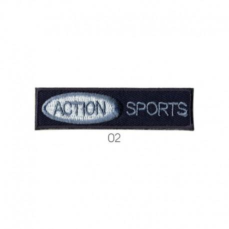 Ecusson Thermocollant Motif Action Sports