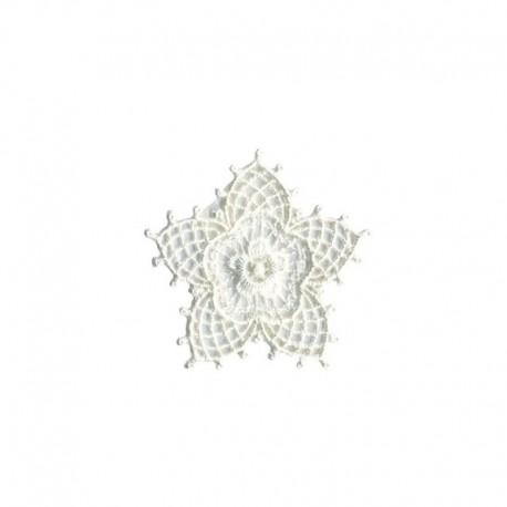 Ecusson Thermocollant Motif Fleur Crochet