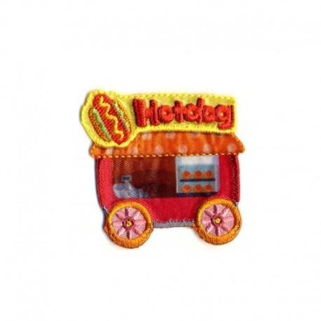 Ecusson Thermocollant Motif Fast Food Car Hot Dog