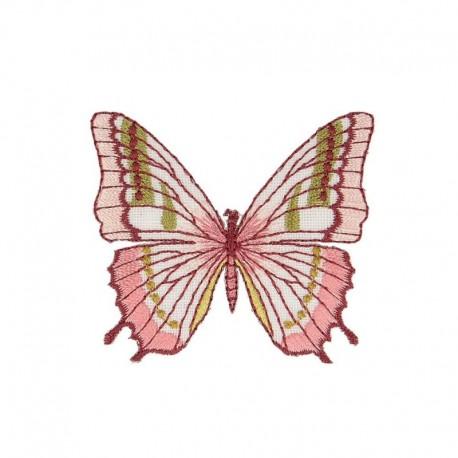 Ecussin Thermocollant Papillon Rose