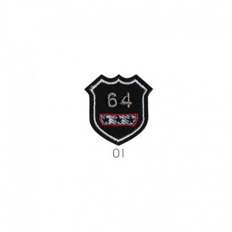 Ecusson Thermocollant Motif Badge 64