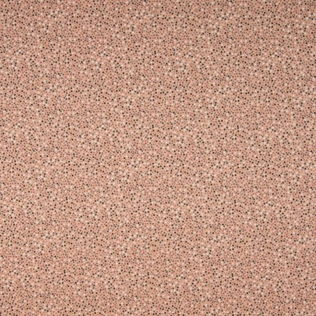 Tissu Jersey Coton Imprimé Pois Fond Rose