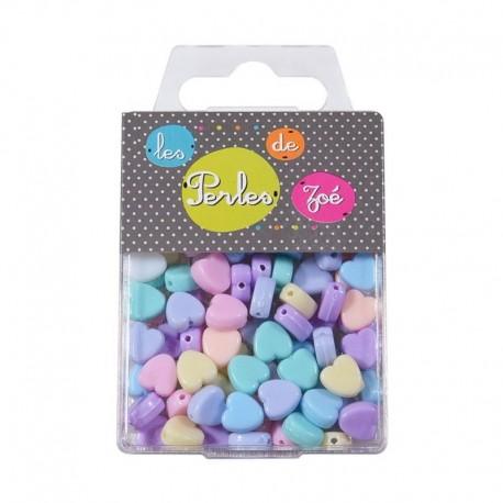 Perles Plastique coeur 20gr