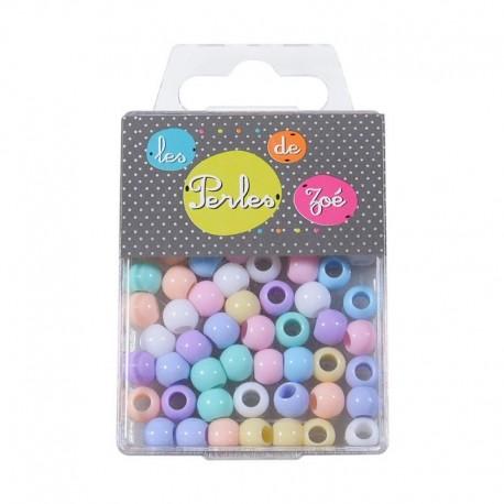 Perles Plastique 6x8mm 13gr