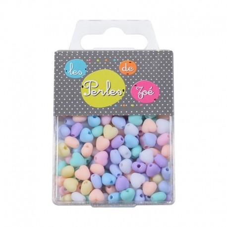 Perles Plastique Coeur 7mm 18gr