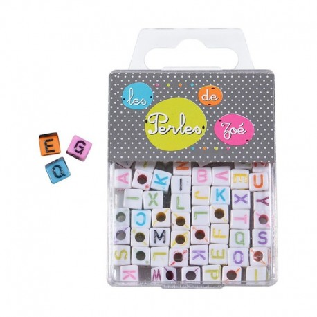 Perles Plastique Lettre 6mm