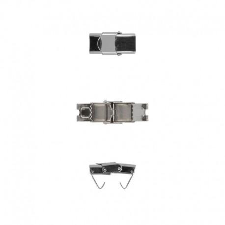 Fermoir Metal Argent 25x13mm