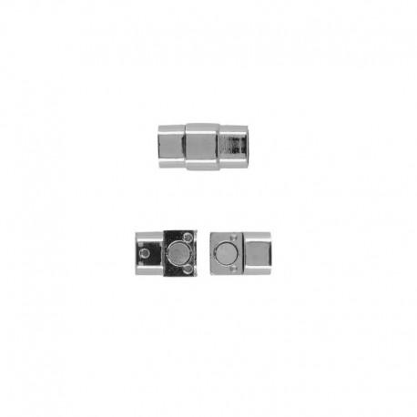 Fermoir Metal Argent 25x14mm
