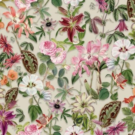 Tissu Balama Digital Fleur Multicore