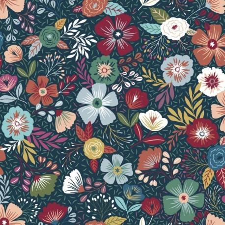 Tissu Mira 1 Digital Fleur Multicolore