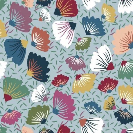 Tissu Mira 3 Digital Fleur Multicolore