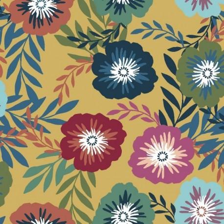 Tissu Mira 4 Digital Fleur Multicolore
