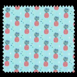 Tissu Coton Imprimé Miami Ananas Ciel