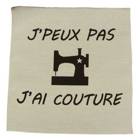 Coupon de Tissu J'peux Pas J'ai Couture