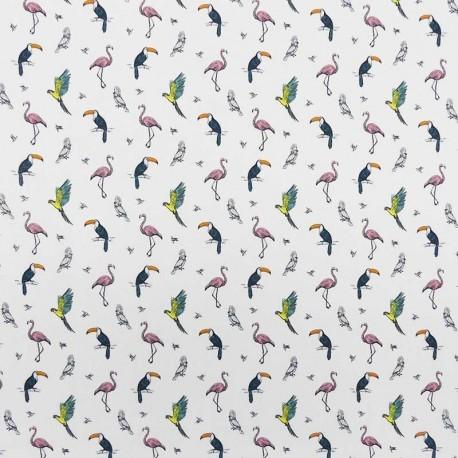 Tissu Popeline Digitale Per Fly Imprimé Oiseaux