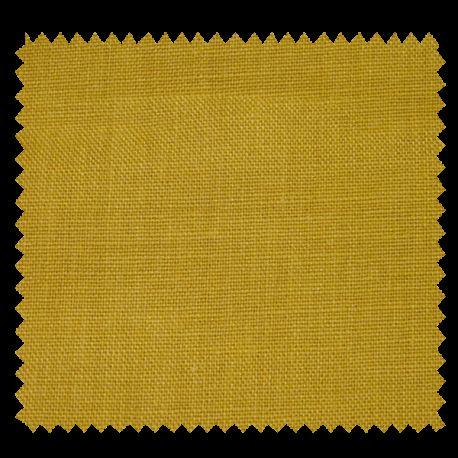 Tissu Drap de Lin Uni Curry