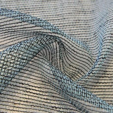 Tissu Voilage Filet Rustique Handy Bleu