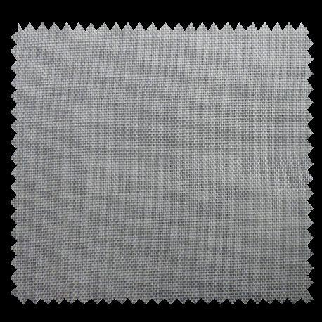 Tissu Drap de Lin Uni Gris Clair